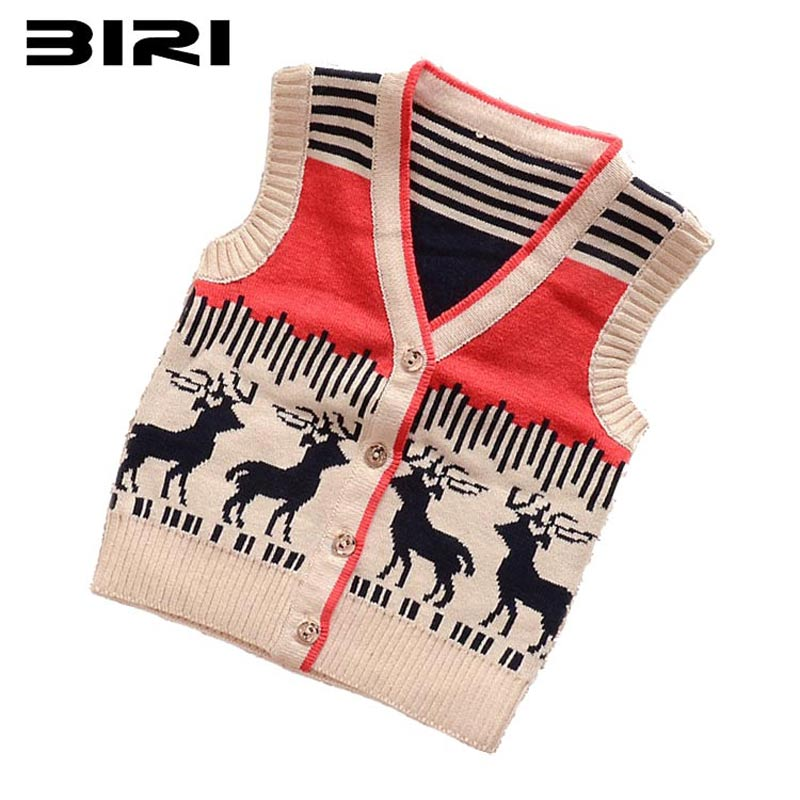 Гаджет  Hot Brand 3 Color Sweat Kids Good Quality Boys And Girls Cardigan Sweater Vest 2-6T.Children