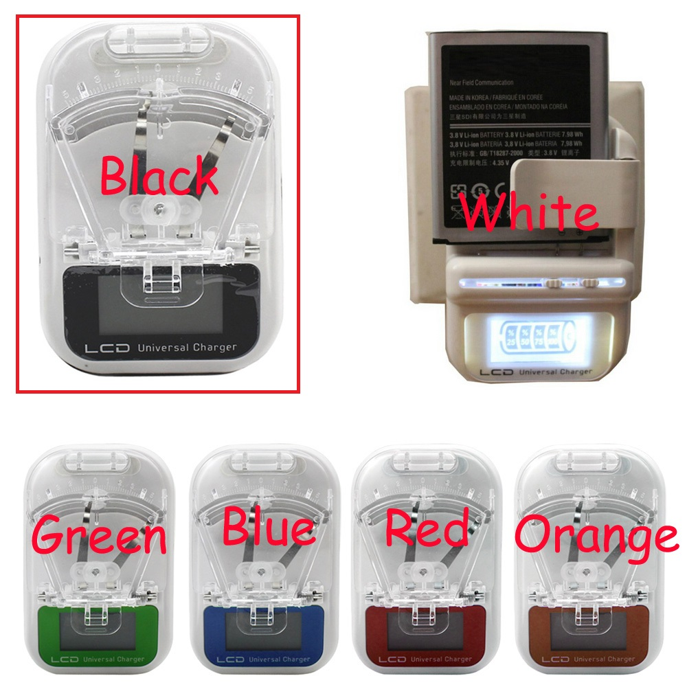 EU /US PLUG Universal Battery Charger LCD Indicator Screen For Cell Phones USB Charger Samsung Battery Charger + Tracking(China (Mainland))