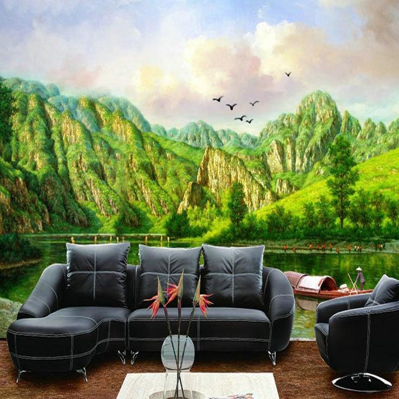 3d stereoscopic wallpaper tv background green large for Wallpaper for large walls
