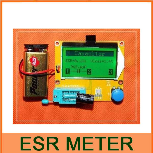 ESR-T4 Mega328 Digital Transistor Tester Diode Triode Capacitance ESR Meter MOS/PNP/NPN L/C/R TESTER METER