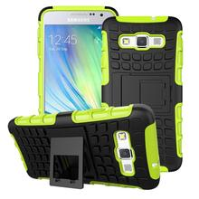 For Samsung A3 Coque Dual Layer Armor Silicon Hard Plastic Skin Case For Samsung Galaxy A3 Case A300 Holder Stand Cover !