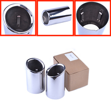 Audi Q3 Exhaust Tip Muffler Car Accessory Decoration Styling Stainless Steel Pipes Tips - Vida Wu's store