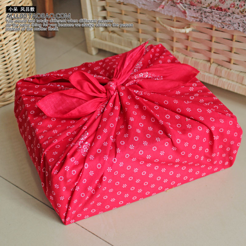 Japanese style wrapping cloth furoshiki flower design handkerchiefs(China (Mainland))