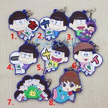 Limited AnimeOsomatsu-san Huging Animal Osomatsu,OSO,KARA ,CHORO,ICHI,JYUUSHI,TODO phone strap pendant Portachiavi Keychain