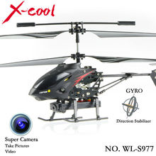 New 2014 wl toys WL S977 3.5 CH Radio remote Control Metal Gyro rc Helicopter With Camera/rc camera helicopter