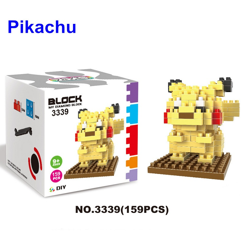 Pokemon Figures Model Toys Pikachu Charmander Bulbasaur Squirtle Mewtwo Eevee Gifts 9+ Anime Building Blocks - Comtel Toy Store store