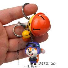 Esquilo Cosplay Astronauta Chaveiro para As Mulheres Saco de moda Encantos Animal Dos Desenhos Animados Anel Keychain Action Figure Toys 3 Sinos Chaveiro(China)