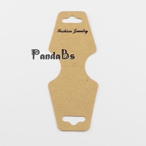Cardboard Necklace Display Cards, Tan, 123x45mm(China (Mainland))