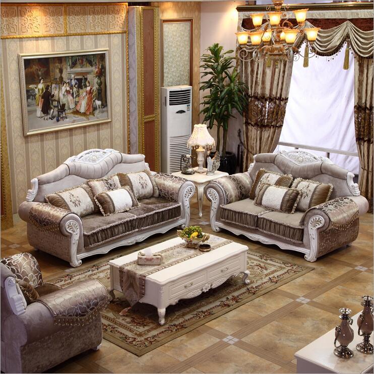 living room furniture modern fabric sofa European sectional sofa set 1070(China (Mainland))