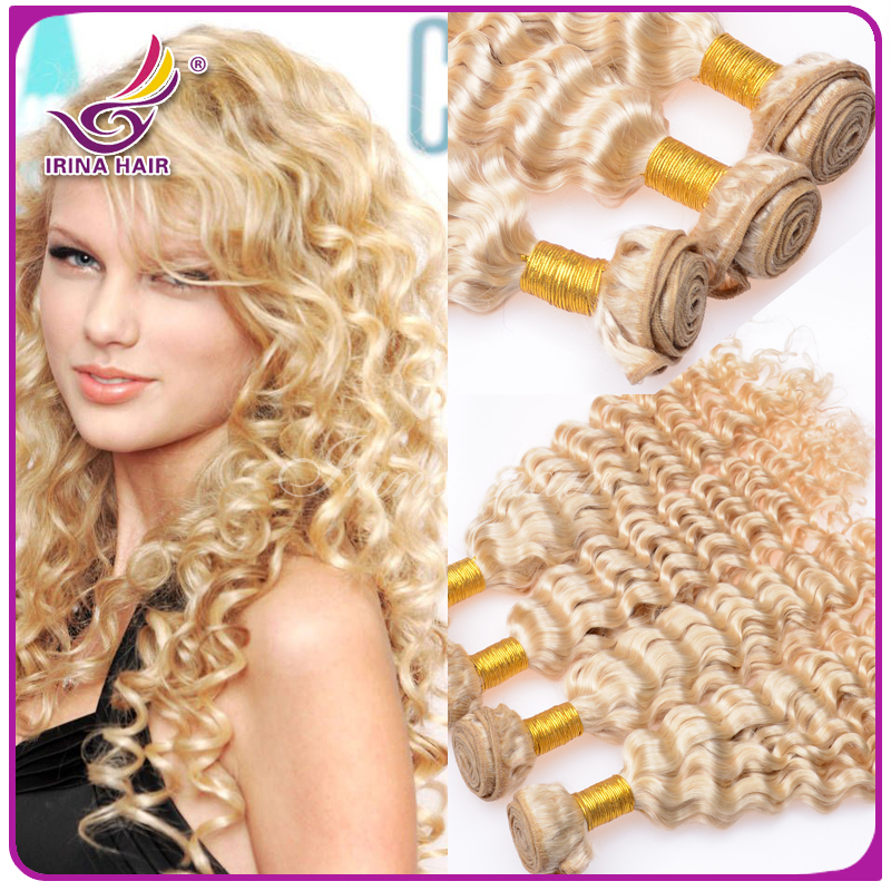 Brazilian curly blonde virgin hair 4 pcs lot. virgin 613 hair extensions,BEST blonde virgin hair,beautiful and fashion style!!!<br><br>Aliexpress