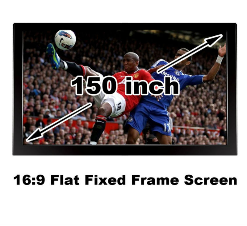 Matt white 150 inch Fixed Frame  projector projection screen 16: 9 high gain for home cinema 3D theater<br><br>Aliexpress
