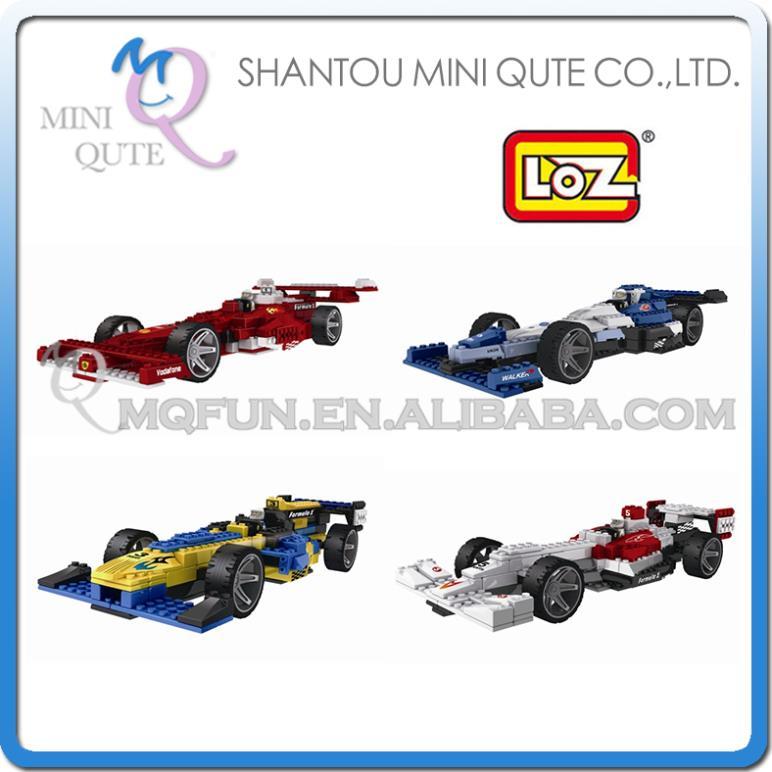 Mini Qute 4 styles 3D F1 formula car loz diamond nano block plastic cube building blocks bricks educational toy game