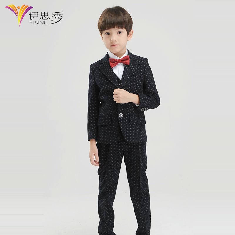 2015 Best-selling boy blazer, New style and fashion kid child flower boy black formal wedding party tuxedo boys Suits(China (Mainland))