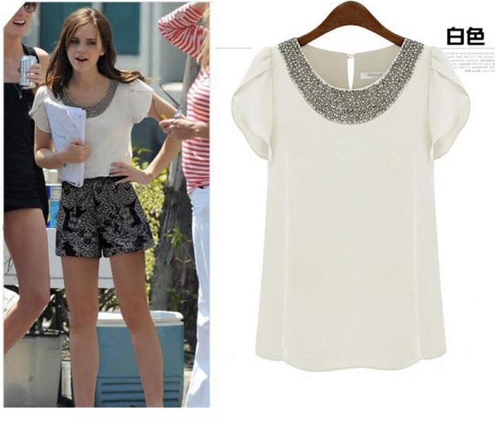 2015 моды женщин шифон блузка рубашка плюс размер blusas femininas одежда рубашки работы женщин топы roupas camisas
