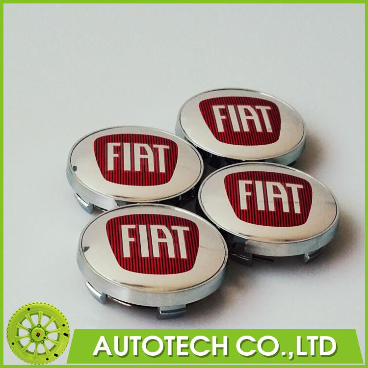 4 x 60mm FIAT Wheel Center Emblem Badge Caps Hub Cover Chrome Car Badges for VIAGGIO FIAT Fiat Bravo in Fremont 500 PALIO 314(China (Mainland))