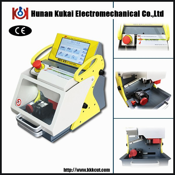 SEC-E9 full automatic key cutting machine with six clamps cut car,house,tubular,dimple,ford and LDV keys smart locksmith tools(China (Mainland))