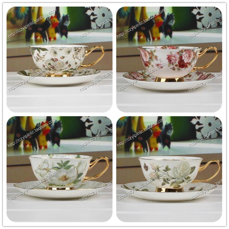 Free shipping Fashion ceramic coffee cup set quality bone china cup coffee mug suit cup plate