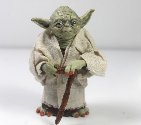 New Star war action figure toys Jedi Knight Master Yoda PVC action toys 12cm size mty446(China (Mainland))