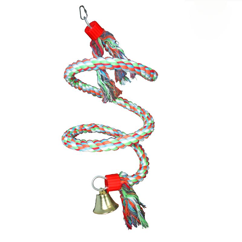 Восхождение хлопка качелей попугай игрушки для средних и большие птицы учебные пособия
