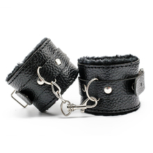 Buy Adult Games Sex Products Black Soft PU Leather Handcuffs Restraints Bondage Sex Product Sex Toys Womanizer Restraints Slave Game for $3.36 in AliExpress store