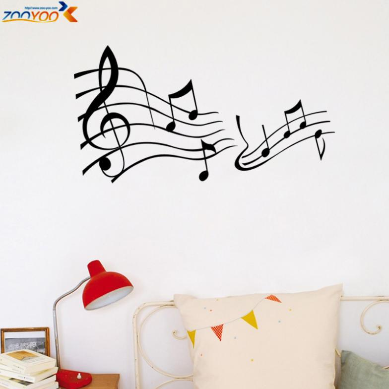 Music note music quote 3D image black stickers vinyl PVC