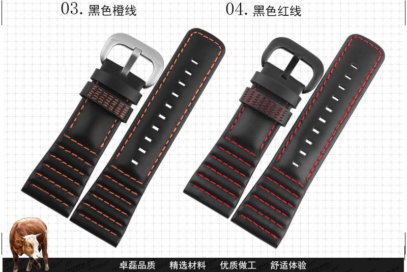 Новое поступление ремешок для часов людей кожаный ремешок часы оригинал S - е - v прибытие-e - н-цветовая F - r-зажим i - d - - y 28 мм ремешок черный 5 цвета :