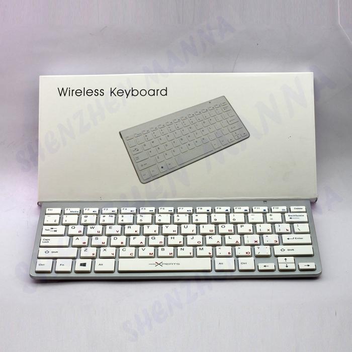 1 шт. бесплатная доставка мини 2.4 г беспроводная клавиатура русский английский клавиатура для macbook окна #js039