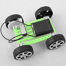 1Pcs Mini Solar DIY Car Toy Puzzle IQ Gadget Hobby Robot For Kids Children(China (Mainland))