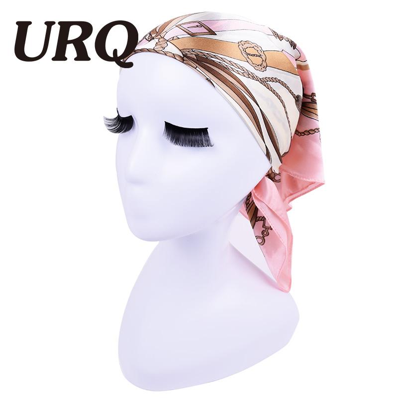 2016 Hot Sale 60*60 Satin Square Silk Scarf fashion woman hijab bandana Polyester hankerchief P6A6557(China (Mainland))