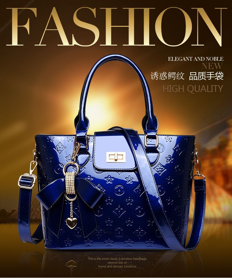 High quality Patent leather 2015European new designer Handbags women famous brands luxury bag ladies Classic Shoulder Bags retro(China (Mainland))