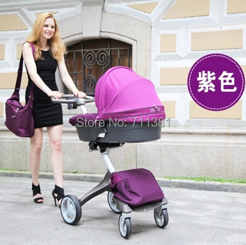 Cheapest Nice Quality Purple Baby Carriage For Baby Girls Baby Buggy 0-4 Years Baby Prams 9 Colors Optional Fast Delivery by EMS(China (Mainland))