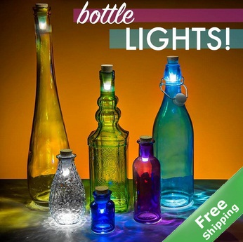 Cork Shaped LED USB Rechargeable Wine Bottle Light Glass Bottle, + - Hangzhou Jacony Green Products Co.,Ltd store