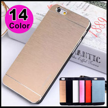 Hot New Products For 2014 Ultra Thin Motomo Brushed Aluminum Metal Hybrid PC Hard Cover Case For Apple iPhone 6 iPhone6 Case 4.7(China (Mainland))