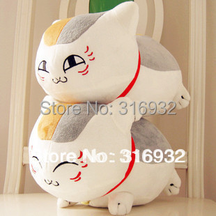 J1 White Natsume Yuujinchou Nyanko Sensei plush cat  anime doll toy, 2 designs can be chosen, 1pc