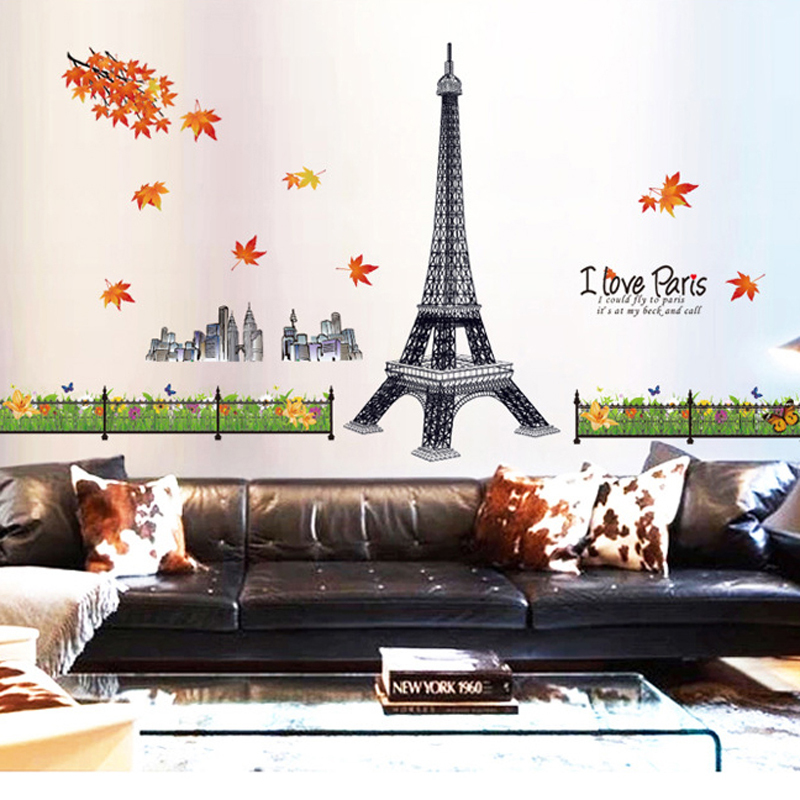 Papier peint tour eiffel promotion achetez des papier for Stickers tour eiffel chambre