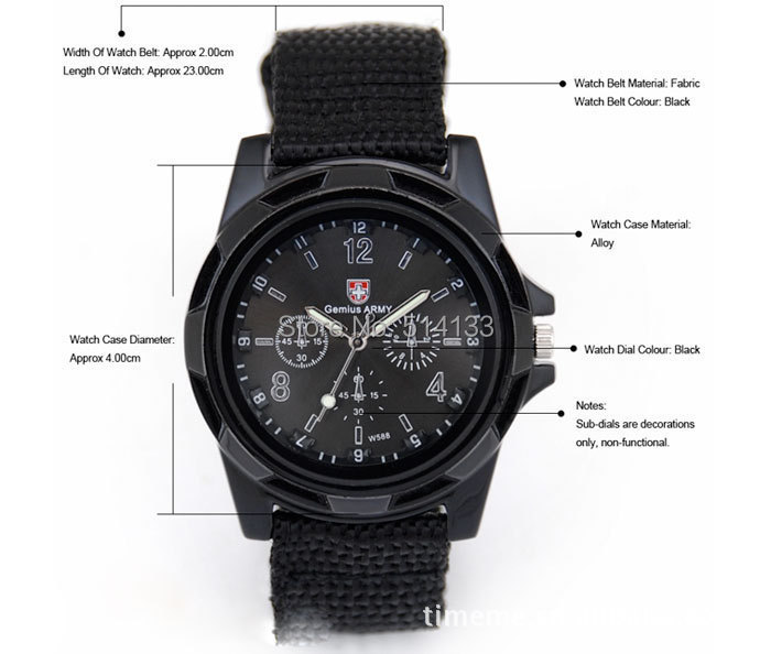 2015 New product Luxury Analog fashion SPORT MILITARY STYLE WRIST WATCH for MEN Gemius ARMY quartz watch 5pcs/lot dropshipping<br><br>Aliexpress