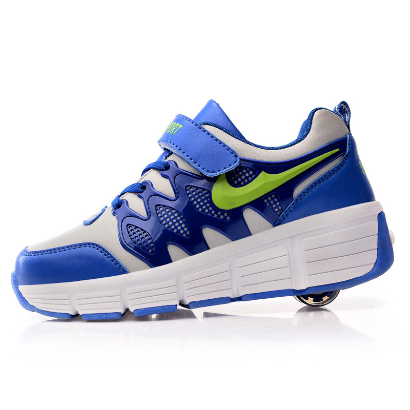 Hot 2015 children heelys roller shoes kids sneakers one Wheel girls boys Adult automatic skating Flying Shoes TX145