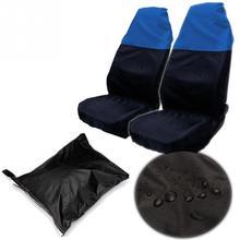 2 pcs voiture universel Van avant Seat Cover étanche Protector Nylon + sac New Hot
