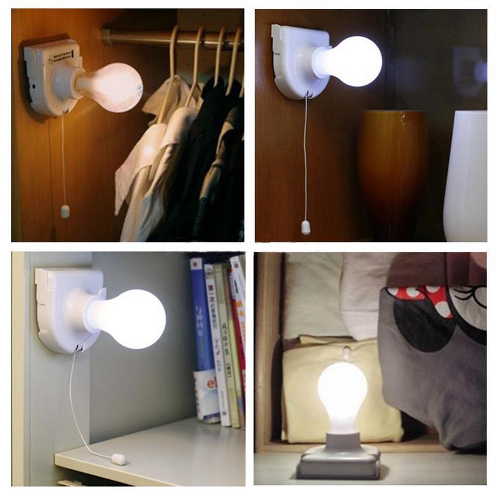 1pc White Stick Up Lights Cordless Wireless Battery Operated Night Light Portable Bulb Licht Cabinet Closet Lamp Free shipping(China (Mainland))