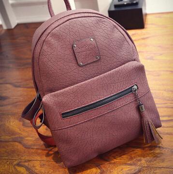 Fashion Women Leather Backpack 2016 New Vintage Children School Bag for Teenage Girl PU Men Travel Bag (BB045-35)