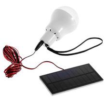 0.8W/5V Solar Power LED Bulb Lamp Solar panel Applicable Outdoor Lighting Camp Tent Fishing Lamp,Garden Light Portable(China (Mainland))