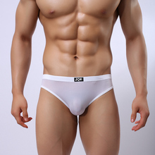 J*** brand transparent mens sexy underwear Gay Polyamid Low-Rise Briefs Cuecas Ropa Interior Hombre Calzoncillos Marcas