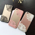 Fashion 3D Embossed Flower Case For Apple iPhone 6 Case Transparent TPU Frame Back Cover for