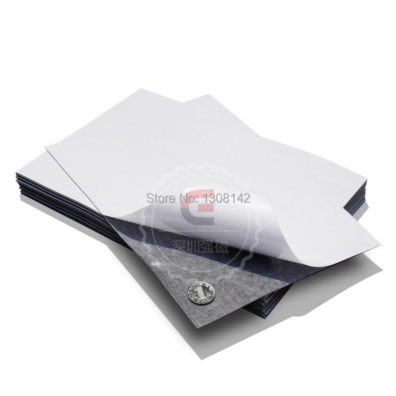 Гаджет  1pcs Self Adhesive Flexible Magnetic Sheet A4 Size 0.5mm Thickness Car/Exhibition/Ad Rubber Magnet None Строительство и Недвижимость