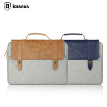 BASEUS Vintage British Style Series Soft PU Dropproof Handbag Protective Bag Universal for 14 inch Screen Notebook Laptop Tablet(China (Mainland))
