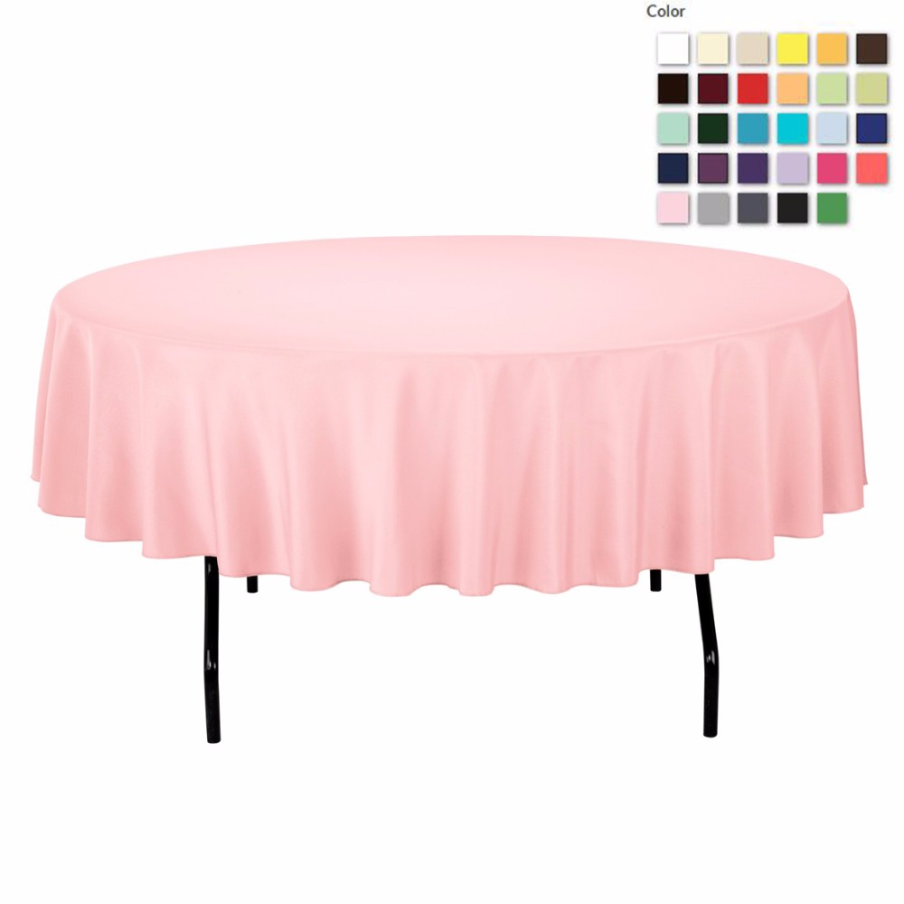 FEDEX IE 90in./230cm Diameter Round Polyester Pink Tablecloth for Wedding Event Banquet Party, 20/Pack(China (Mainland))