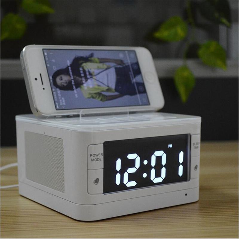 Wireless Bluethooth Speaker Loudspeakers 3D Sound Portable Speaker MP3 FM Radio with Alarm Clock Handsfree MINI(China (Mainland))