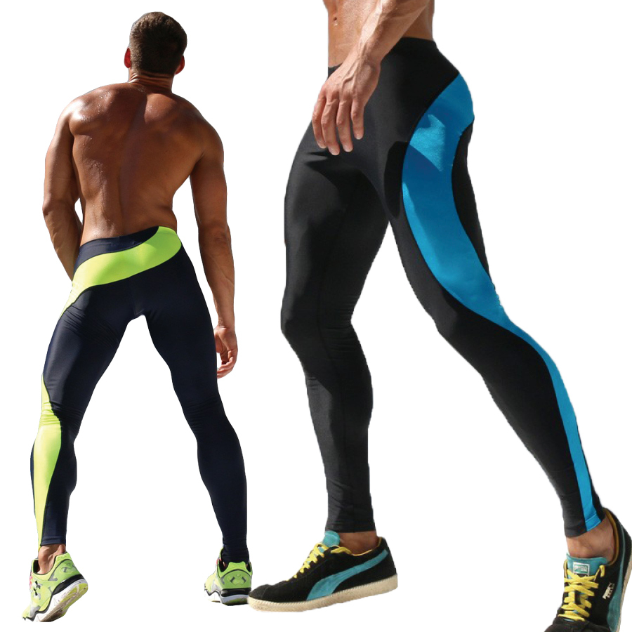 Гаджет  Mens Sport Long Sexy Tight Pants Gym Fashion Ankle Length Pants Penis Male Athletic Trousers Casual Sweatpants Stretch AQ17 None Одежда и аксессуары