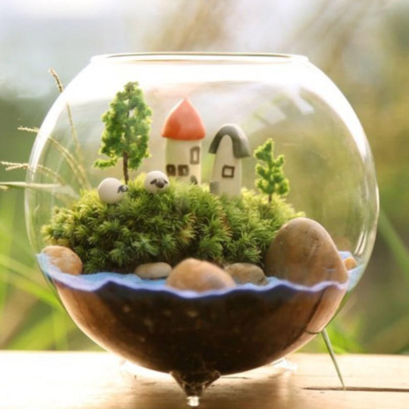 Popular round glass fish tanks buy cheap round glass fish for Vase aquarium rond
