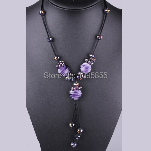 Fashion Jewelry Crystal Necklace Coloful Free Shipping Long Rope Individuality Beautiful Bead <br><br>Aliexpress